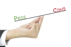 Pros and cons comparison on hand.