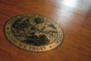 Courtroom Seal in State of Florida